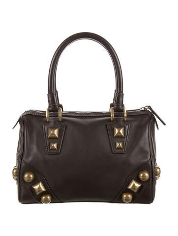Studded Leather Handle Bag
