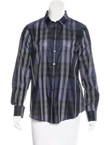 Burberry Silk Check Top None