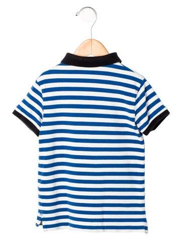 Burberry boys 39 striped polo shirt boys bur63129 the for Boys striped polo shirts