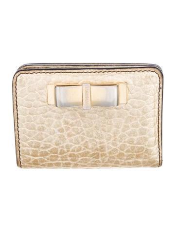 Burberry Metallic Compact Wallet