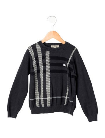 Burberry Boys' Supernova Check Rib Knit Sweater None