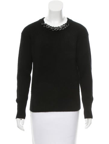 Burberry Chain-Accented Knit Sweater None