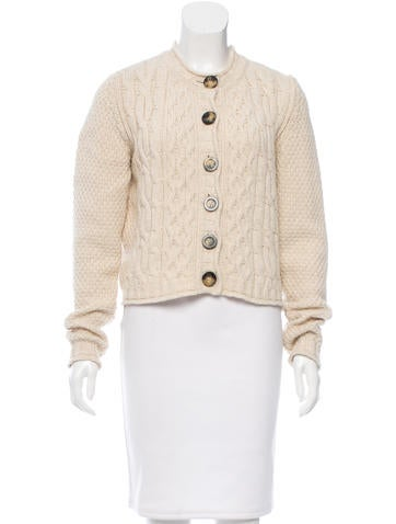 Burberry Cable-Knit Long Sleeve Cardigan None