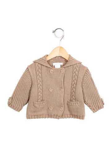 Burberry Boys' Double-Breasted Cable Knit Sweater None