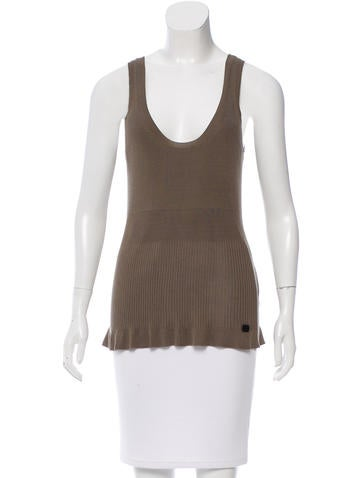Burberry Silk SLeeveles Top w/ Tags None