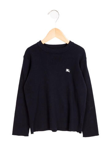 Burberry Girls' Crew Neck Knit Sweater None