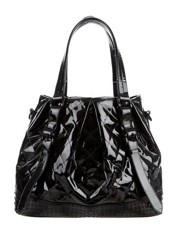 Quilted Patent Leather Satchel