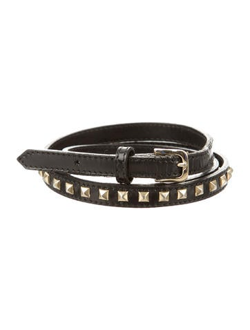 Burberry Leather Studded Belt None