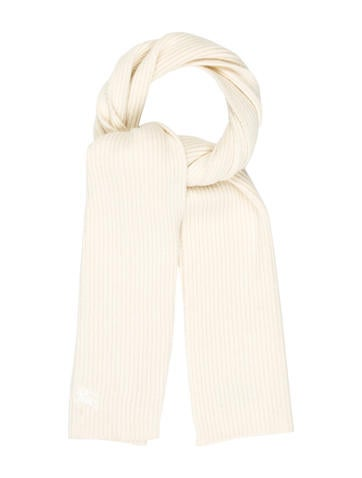 Burberry Rib Knit Wool Scarf None