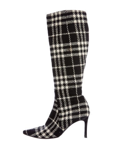 House Check Mid-Calf Boots