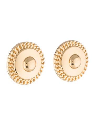 burberry button clip on earrings earrings bur65531