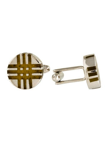 Burberry Resin Check Cufflinks None