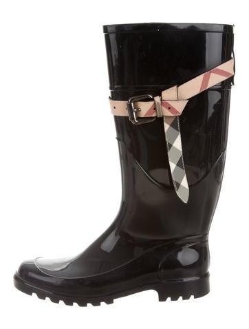 Burberry Nova Check Rain Boots None
