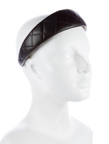 Quilted Leather Headband