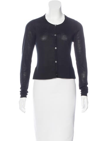 Burberry Silk-Blend Cropped Cardigan None