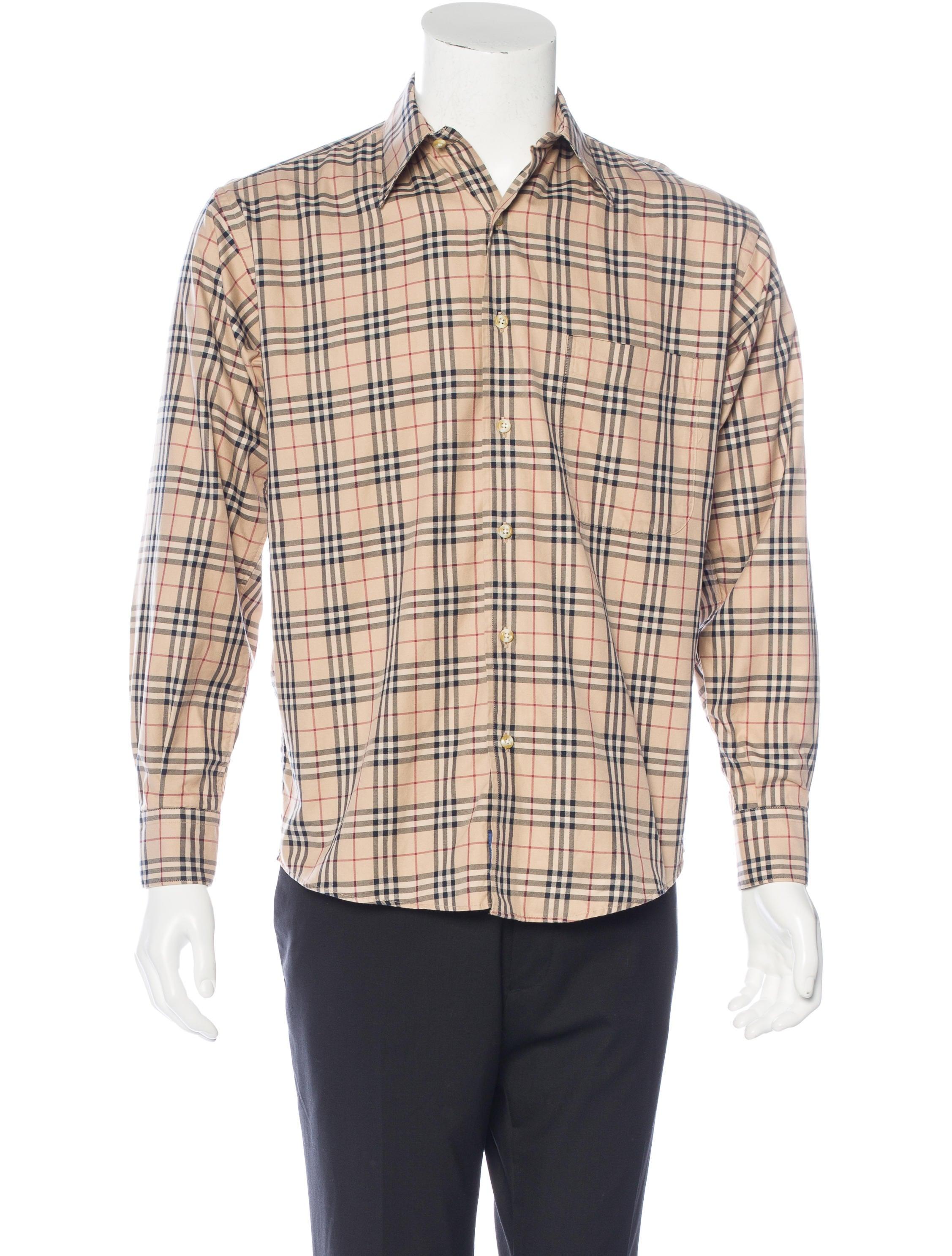 Burberry Nova Check Shirt Mens Shirts Bur66120 The