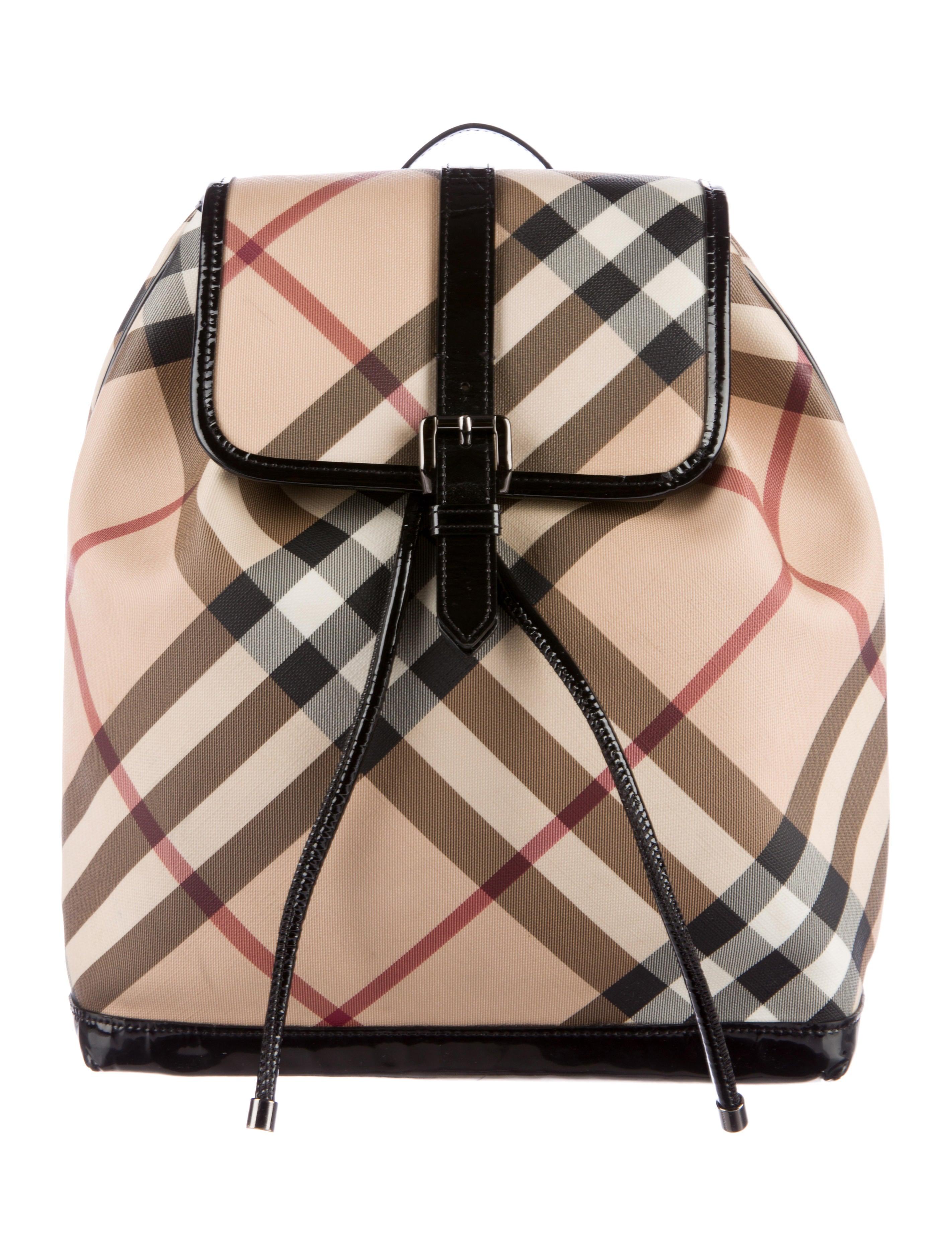 Burberry Super Nova Check Backpack - Handbags - BUR66744 ...