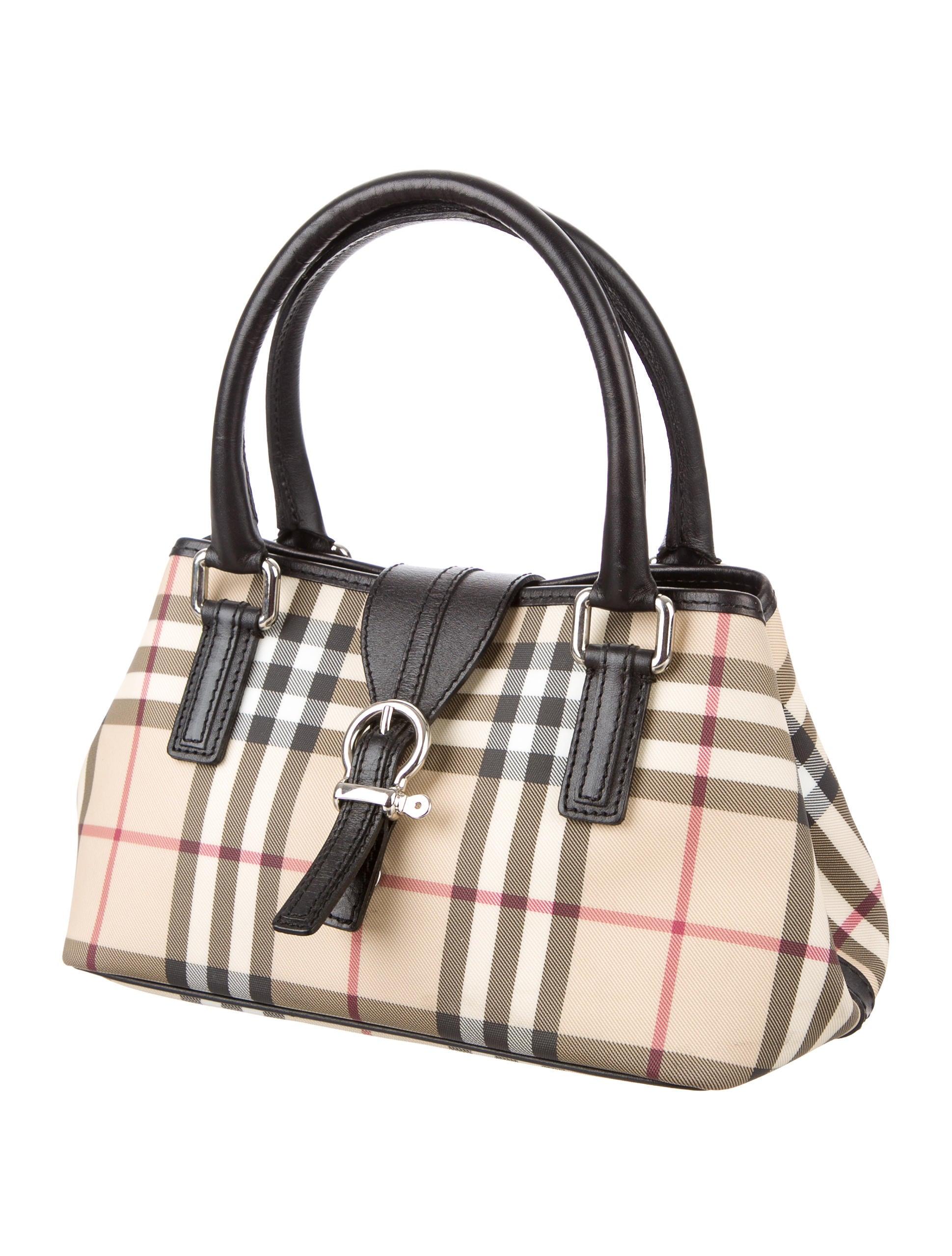 Burberry Nova Check Eden Bag - Handbags - BUR66953 | The ...
