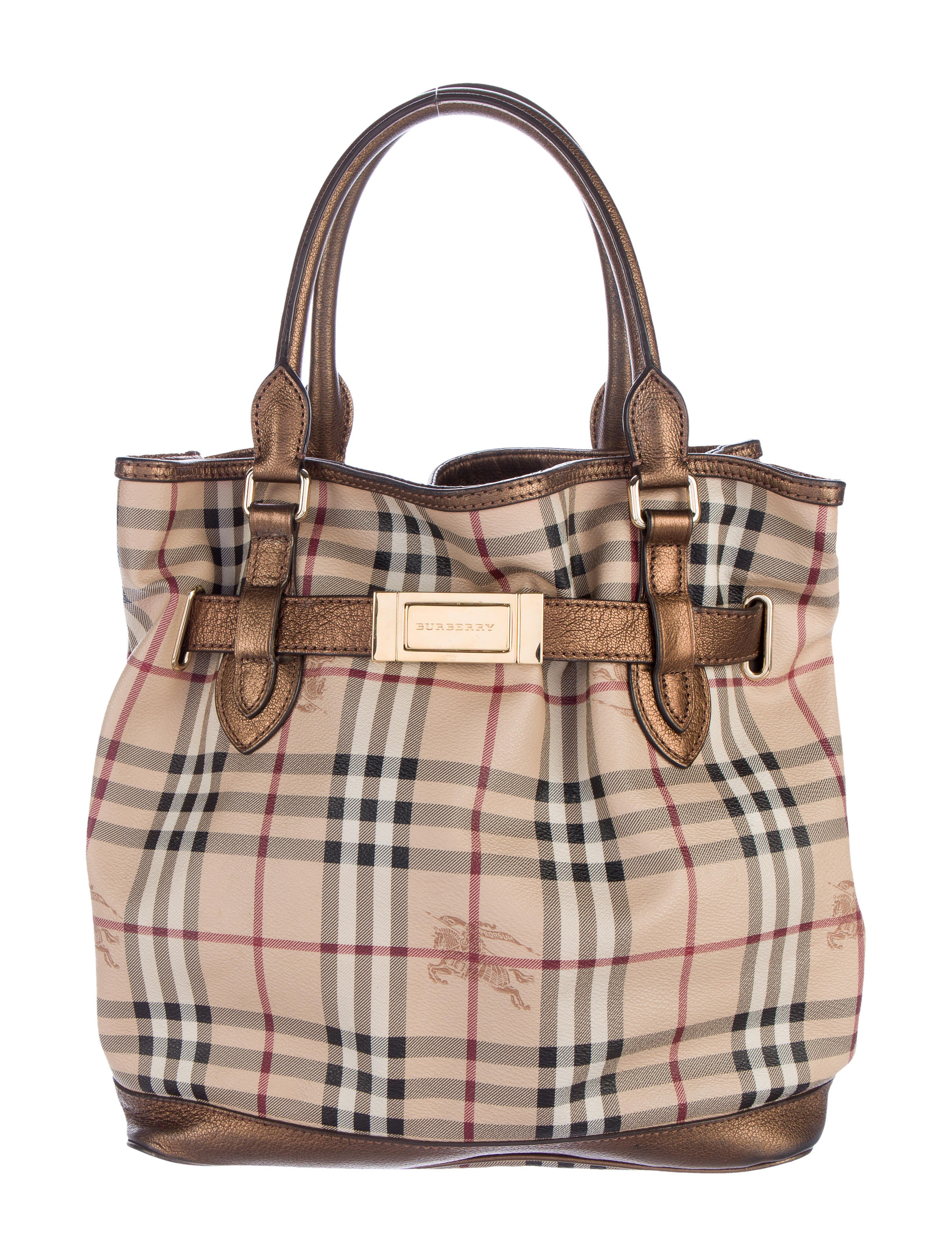 82c8078793c0 Burberry Haymarket Check Golderton Tote - Handbags - BUR67333
