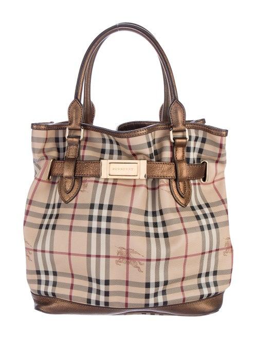 1d5116f39e89 Burberry Haymarket Check Golderton Tote - Handbags - BUR67333