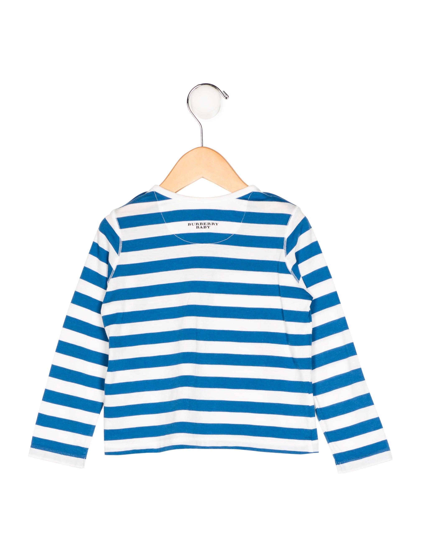 Burberry Boys 39 Striped Long Sleeve Shirt Boys Bur67355