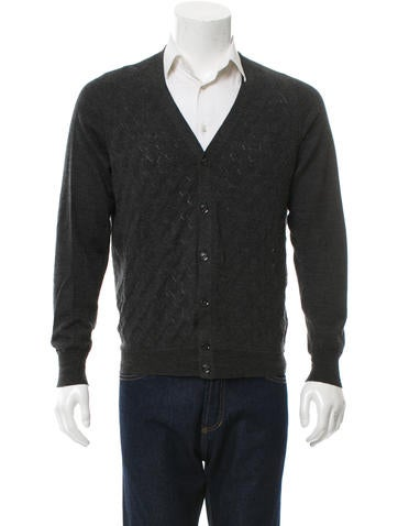 Burberry V-Neck Patterned Cardigan None
