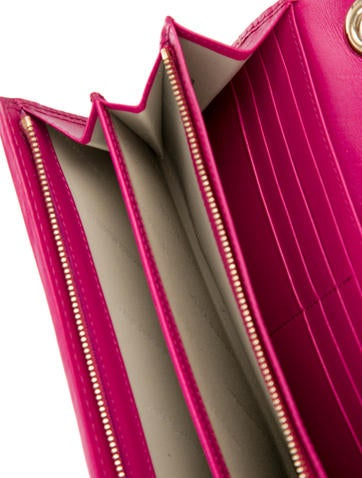 Striped Leather & Haymarket Check Pochette