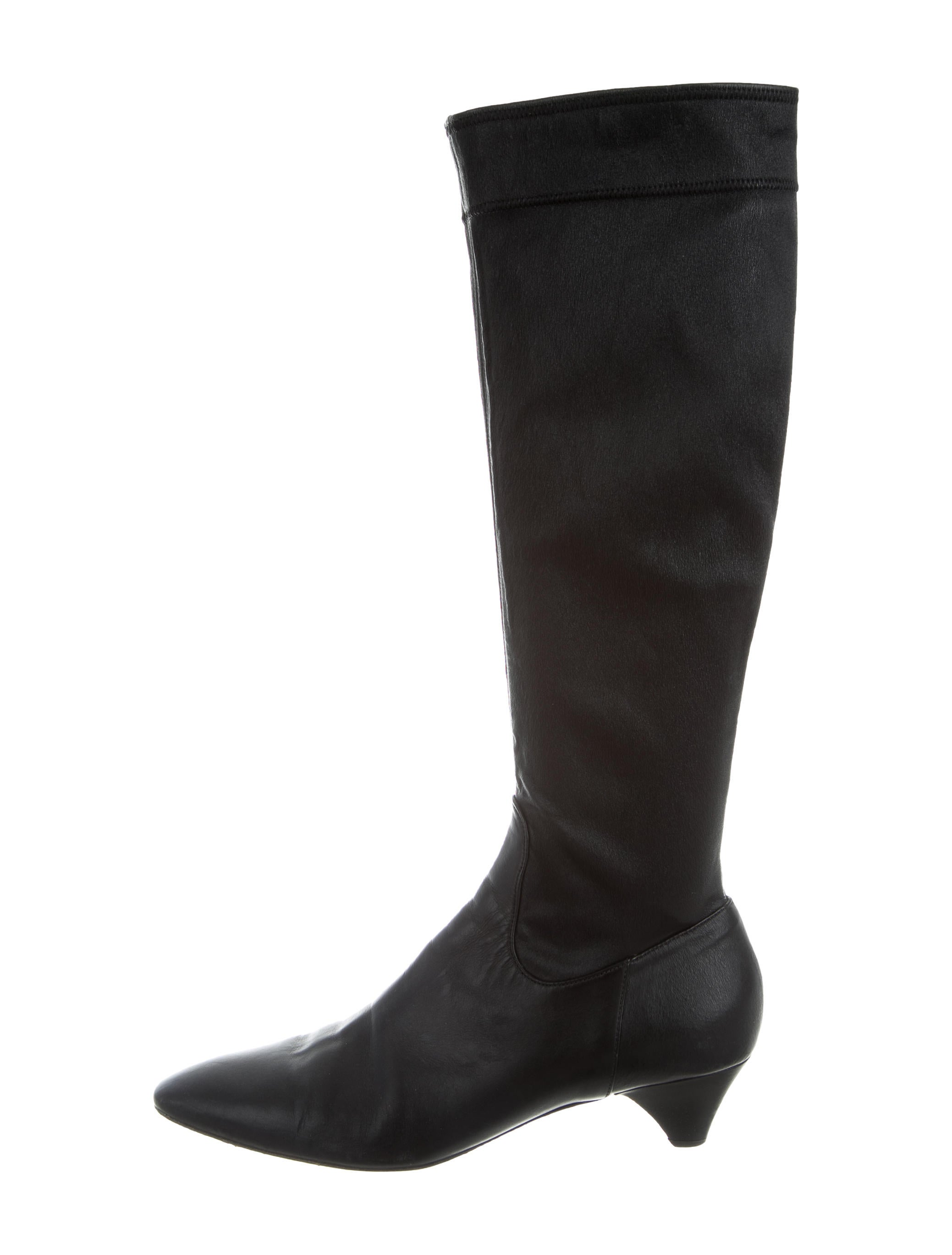burberry semi pointed toe knee high boots shoes