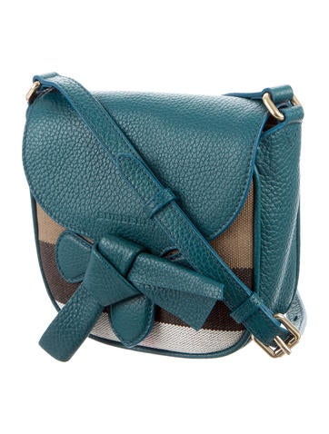 Leather-Trimmed House Check Crossbody