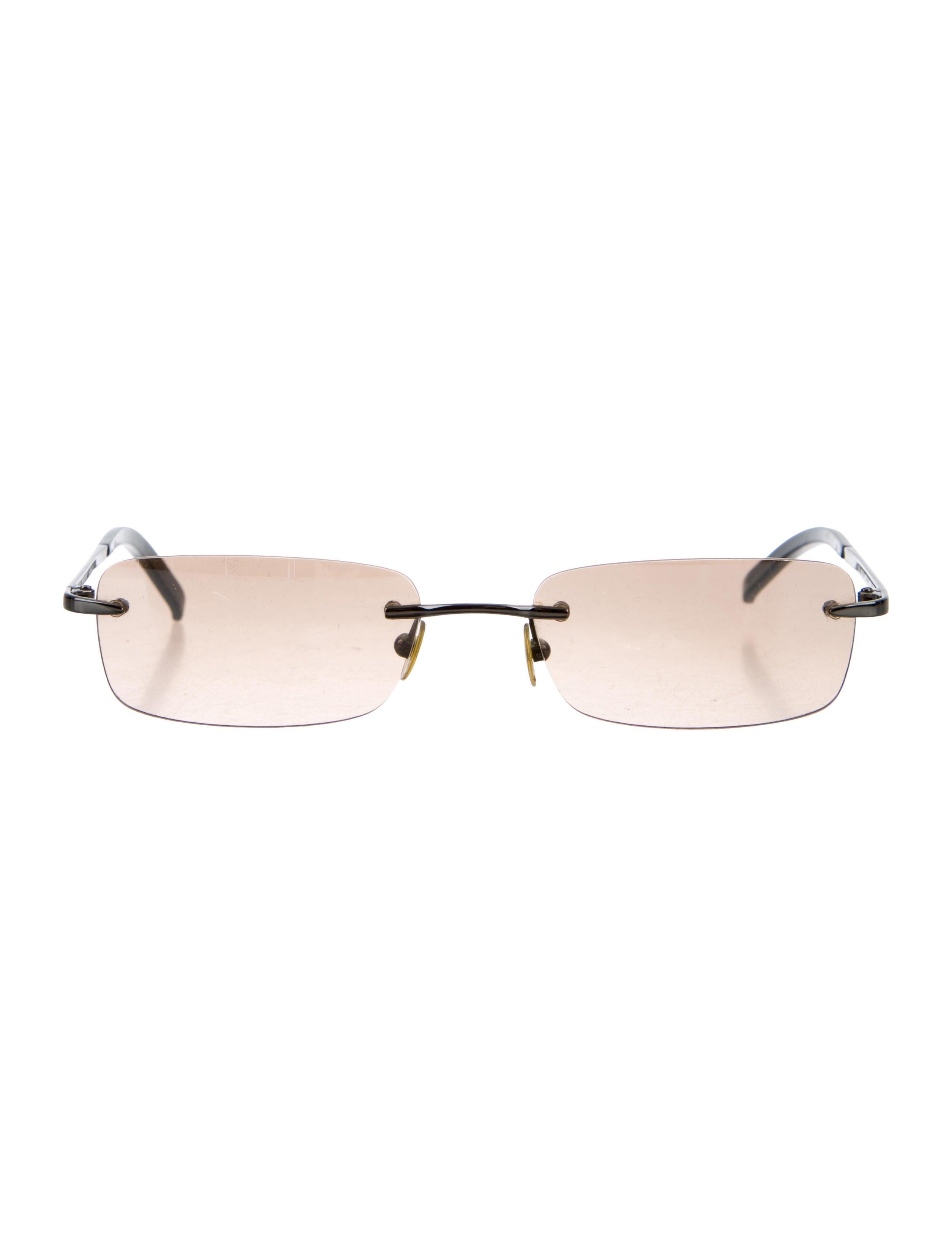 Burberry Rimless Glasses : Burberry Rimless Rectangular Sunglasses - Accessories ...