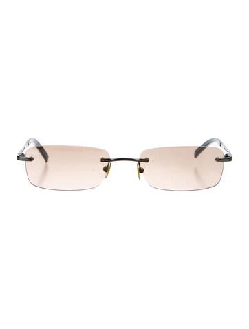 Rimless Rectangular Sunglasses
