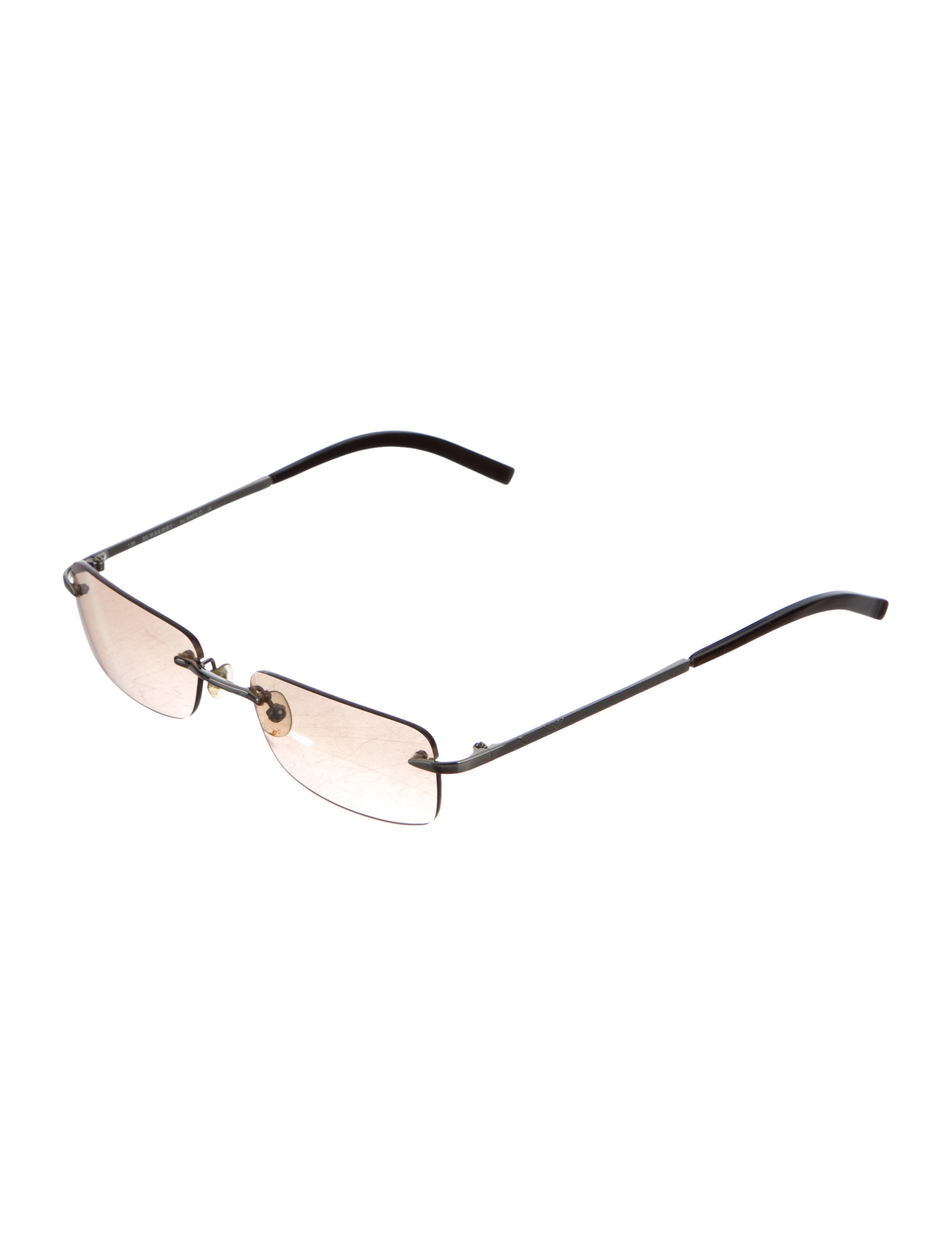 Burberry Rimless Glasses : Burberry Rimless Rectangular Sunglasses - Accessories ...
