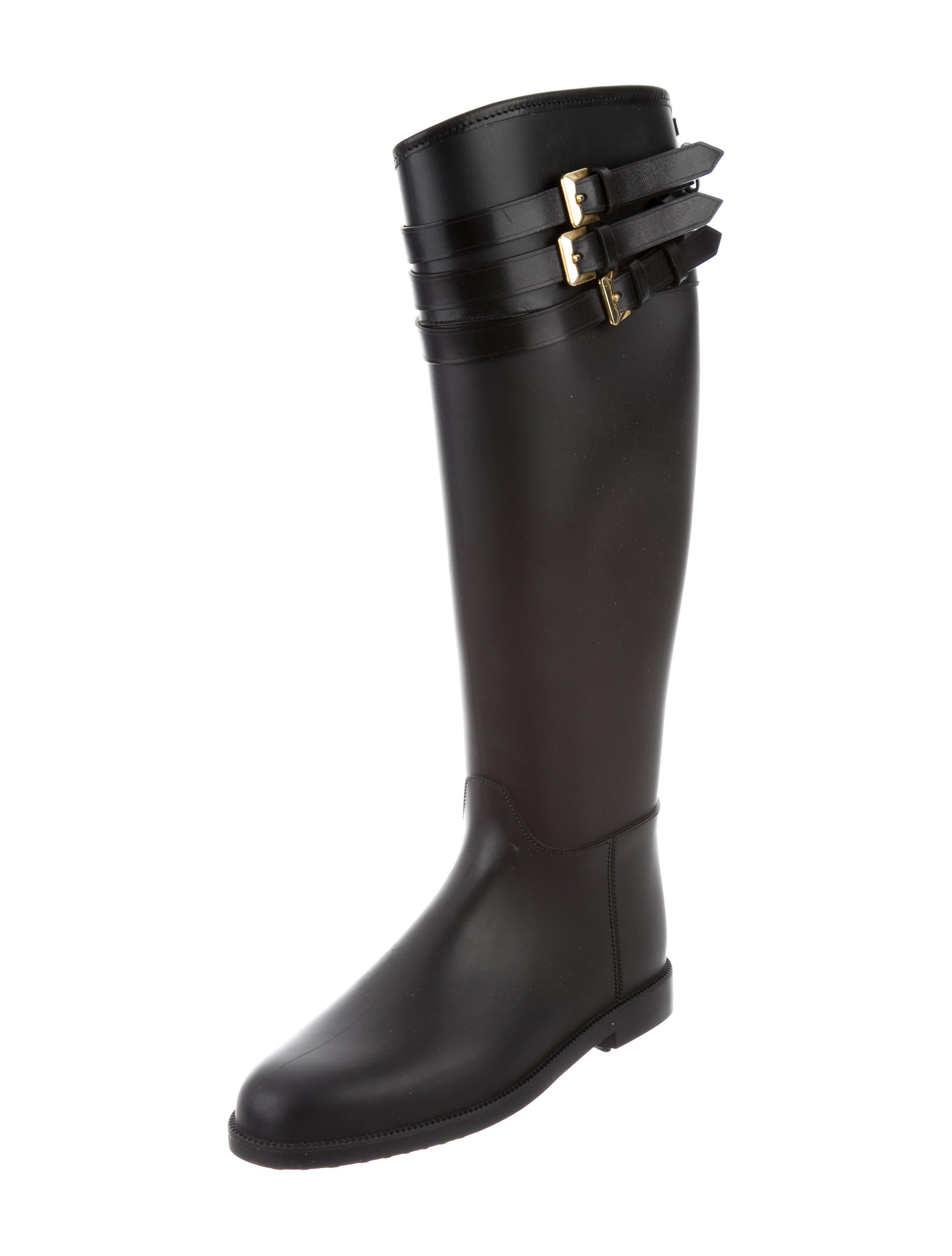 black burberry rain boots