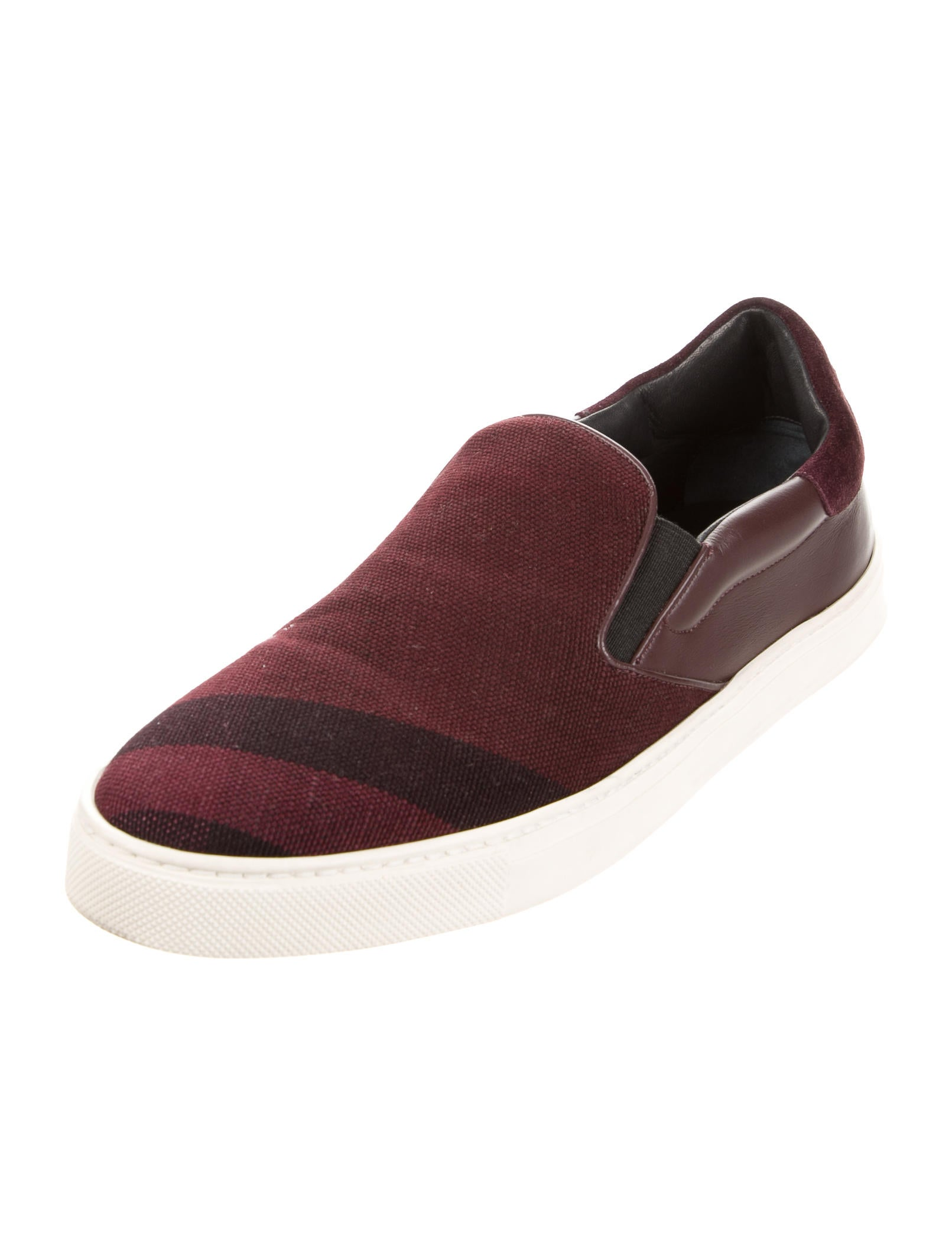 burberry check slip on sneakers shoes bur68304