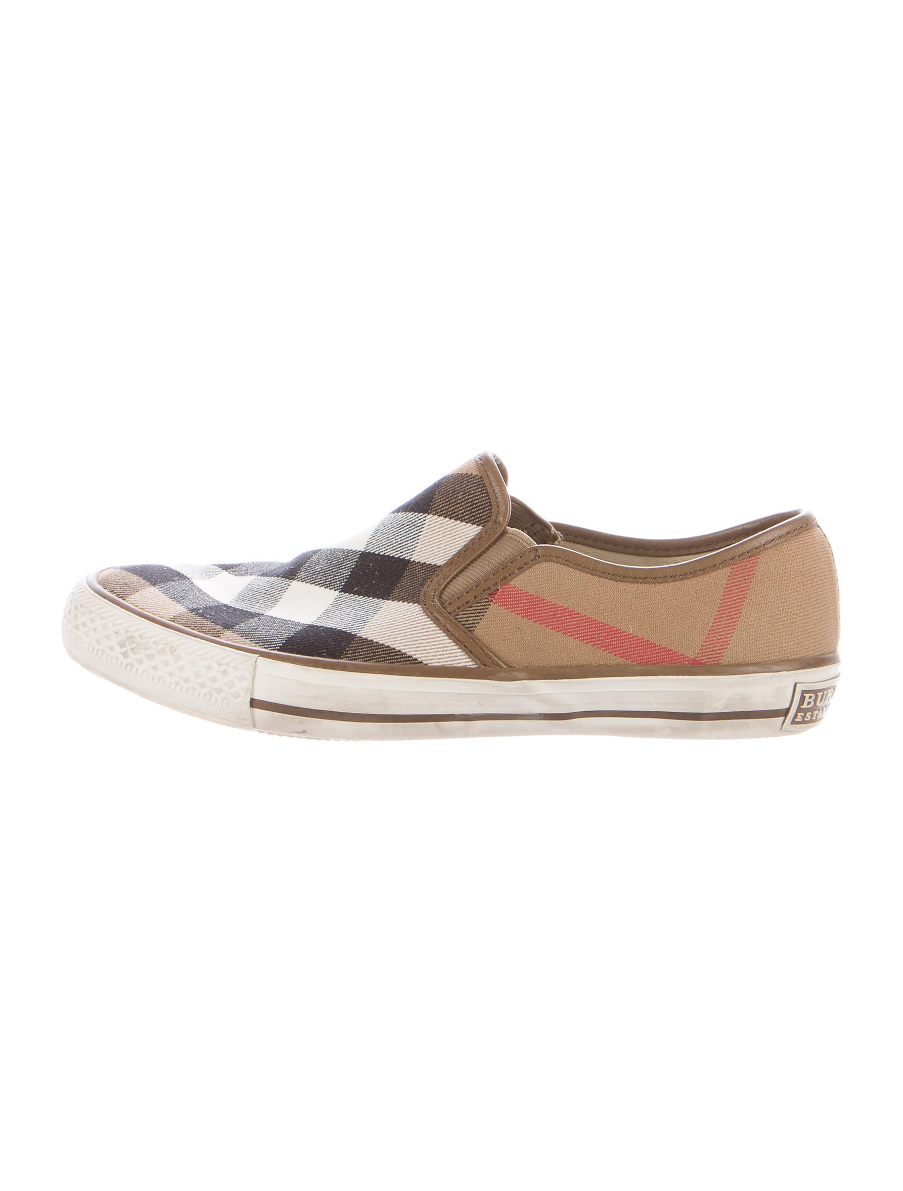 burberry house check slip on sneakers shoes bur68309