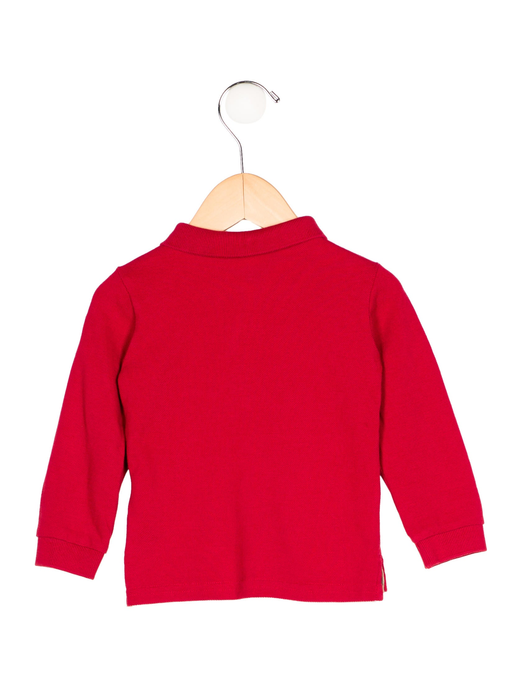 Burberry boys 39 long sleeve polo shirt boys bur68312 for Long sleeved polo shirts for boys
