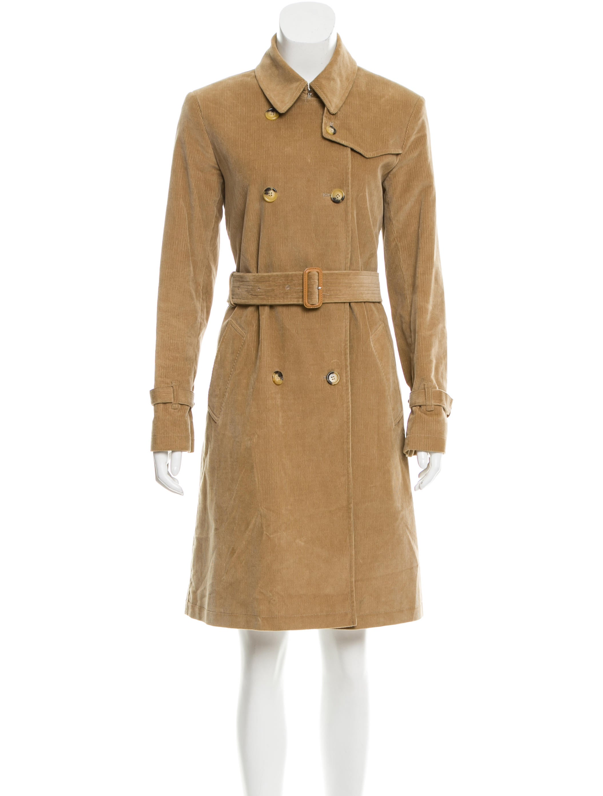 Burberry Home Decor Burberry Corduroy Trench Coat Clothing Bur68320 The