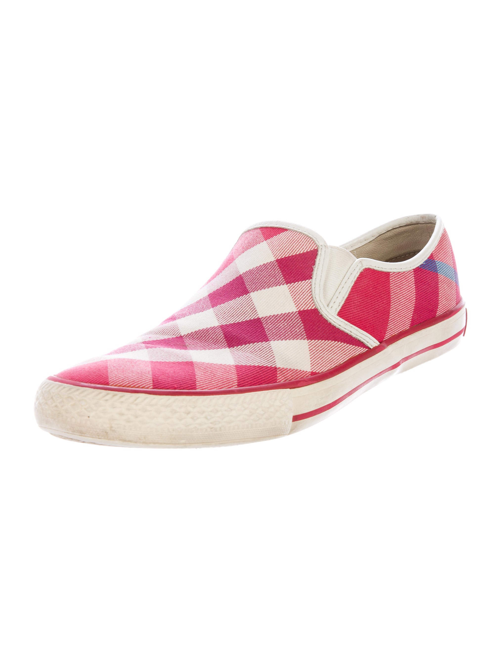 burberry check slip on sneakers shoes