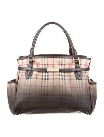 burberry wallet sale outlet 3ws1  Burberry Liberton Portrait Degrade Haymarket Check Tote