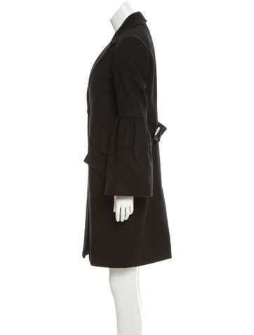 Wool Notch-Lapel Coat