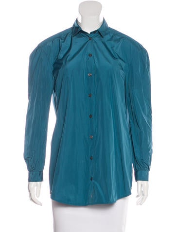 Burberry Collared Button-Up Top None