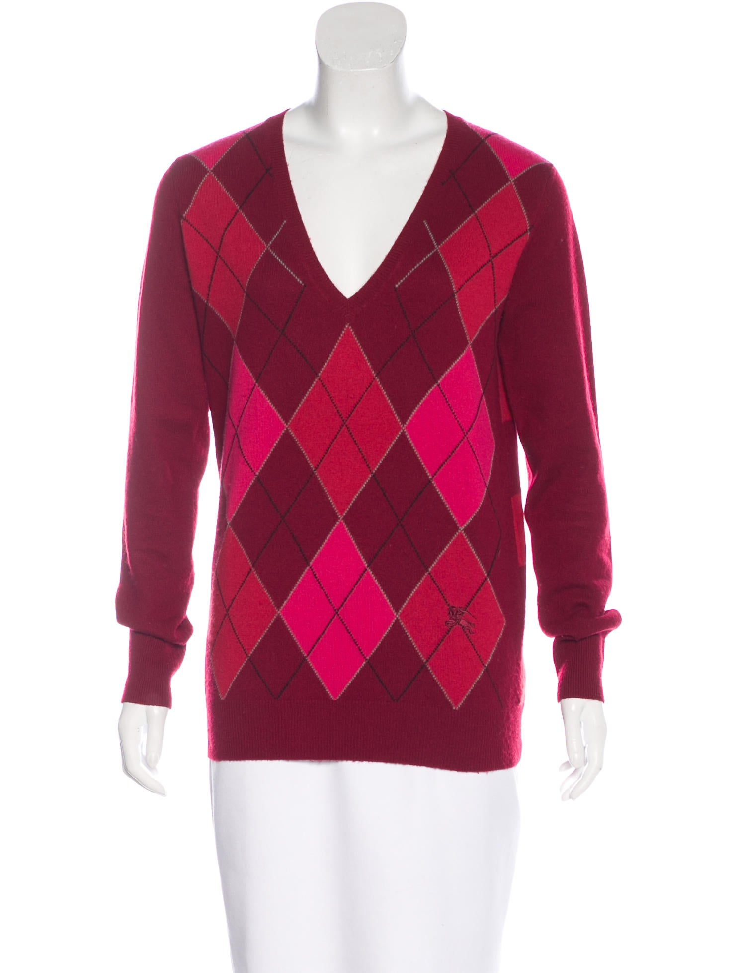 Burberry Cashmere Argyle Sweater - Clothing - BUR68976 | The RealReal