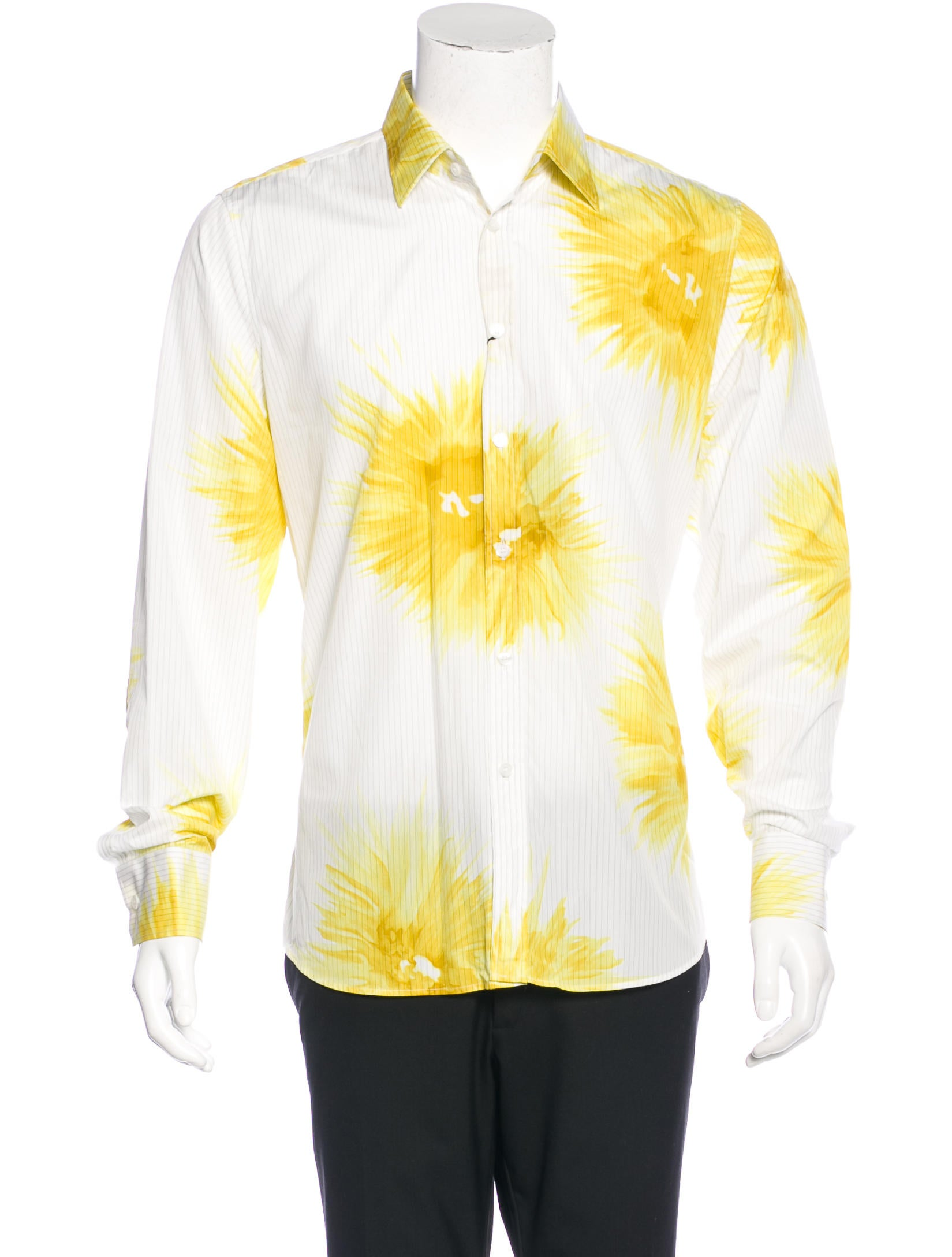 Burberry Home Decor Burberry Striped Daffodil Print Shirt W Tags Clothing