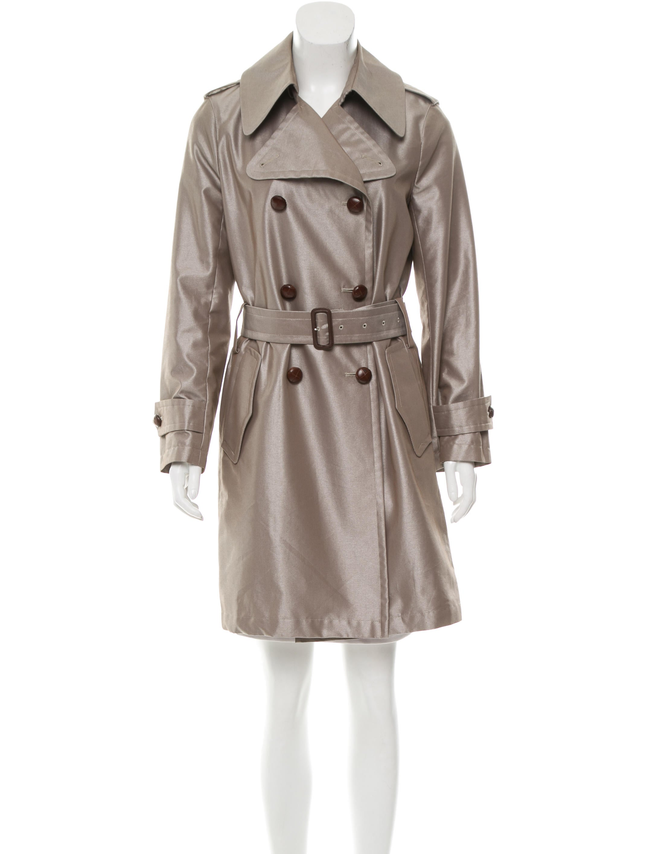 burberry belted trench coat clothing bur69100 the