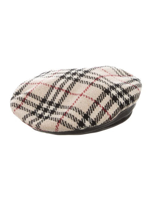074c9ed9530 Burberry Wool House Check Beret - Accessories - BUR69126