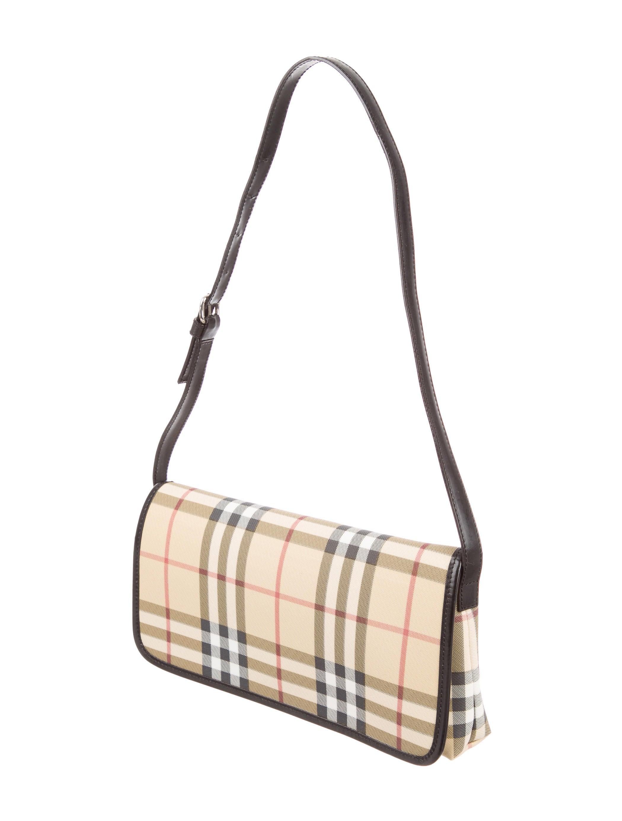 Burberry Small Nova Check Shoulder Bag - Handbags ...