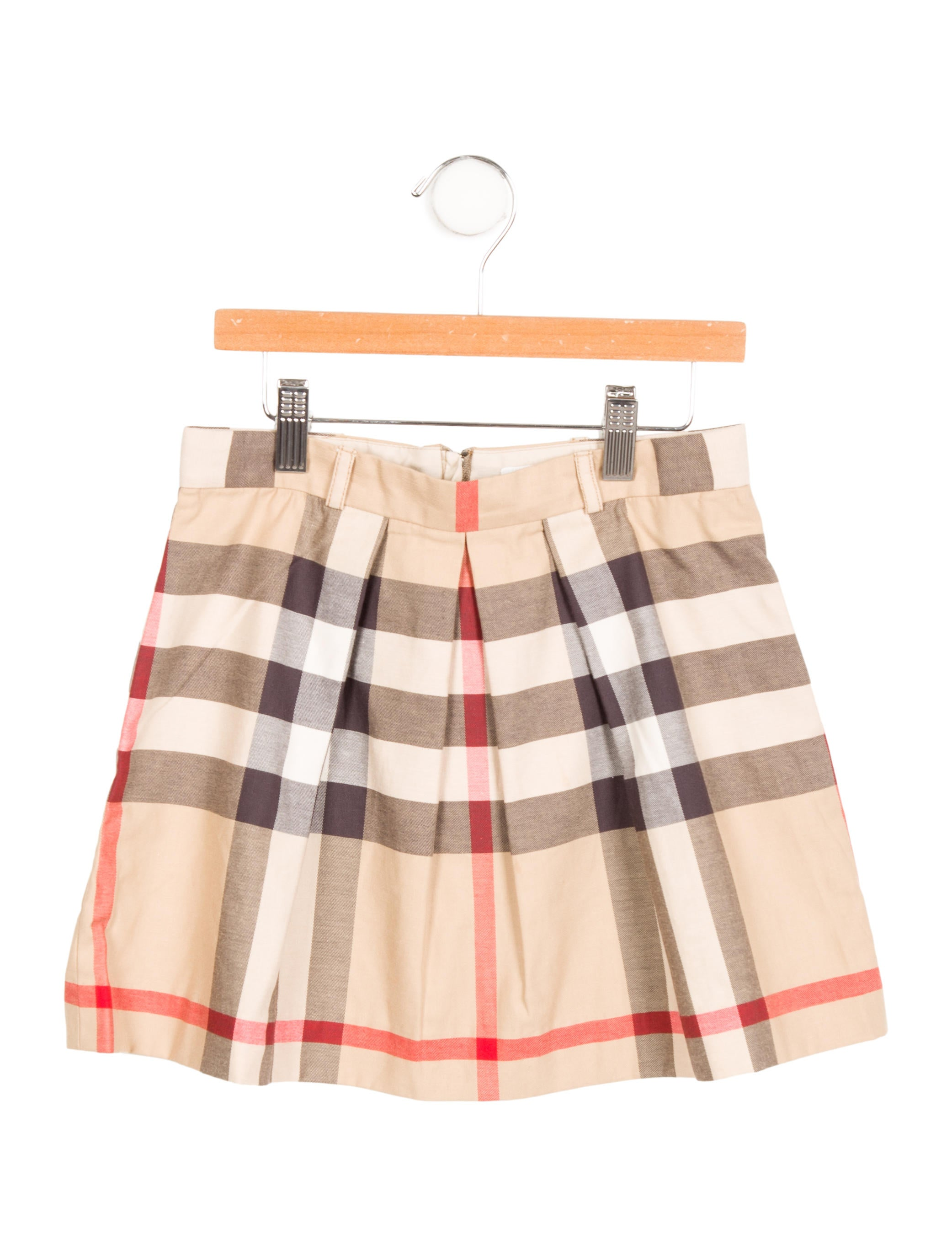 burberry check pleated skirt w tags