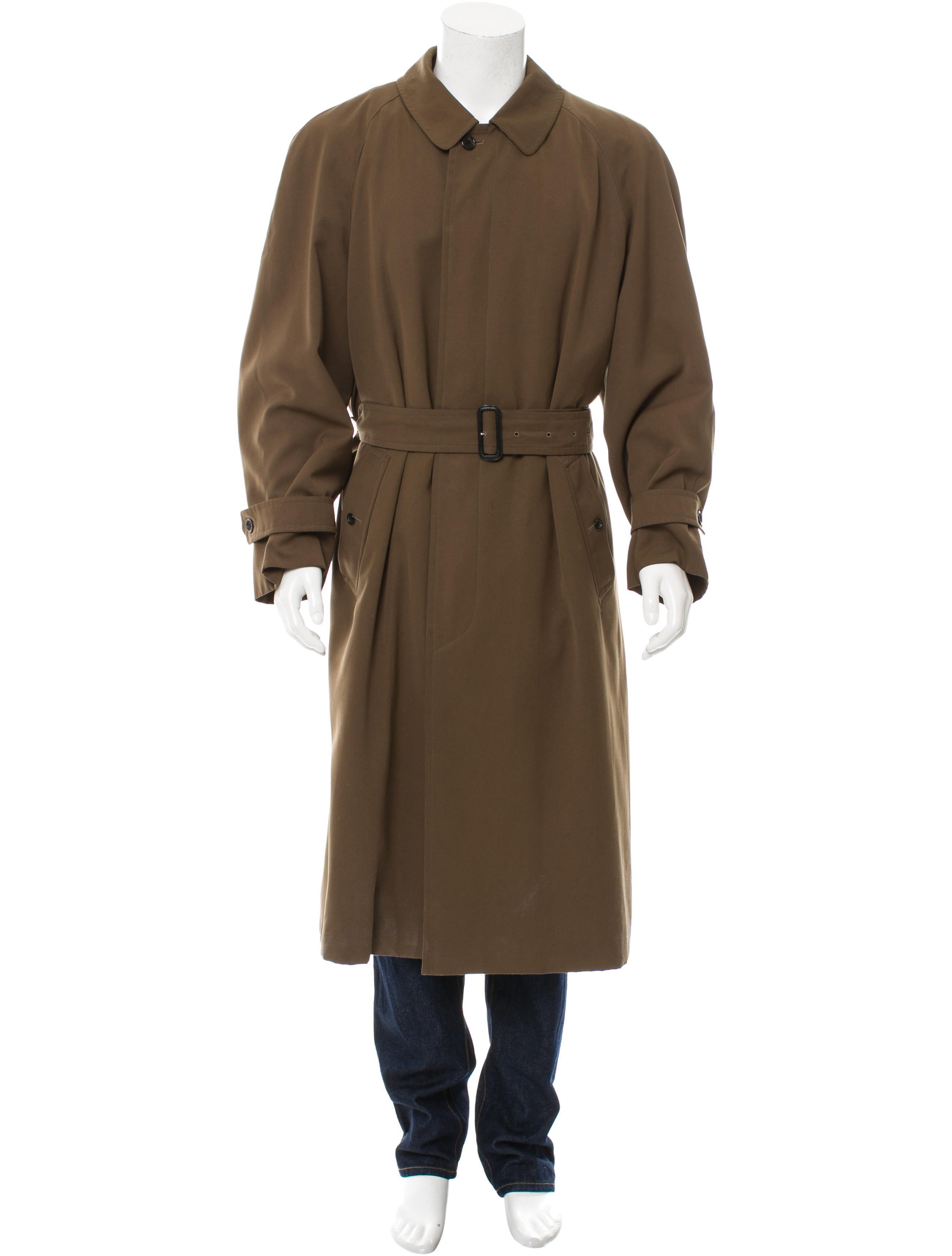 burberry belted wool lined coat clothing bur69748