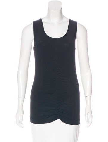 Burberry Ruched Sleeveless Top None