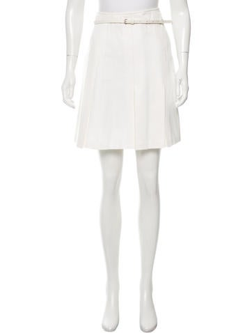 burberry pleated belted skirt clothing bur70193 the